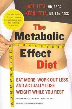 Book annotation not available for this title. Title: The Metabolic Effect Diet Author: Teta, Jade/ Teta, Keoni Publisher: Harpercollins Publication Date: 2011/01/25 Number of Pages: 256 Binding Type: #fastermetabolicdiet