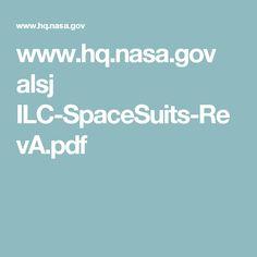 www.hq.nasa.gov alsj ILC-SpaceSuits-RevA.pdf Astronaut Costume, Nasa, Pdf
