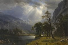 Yosemite Valley, 1866. Albert Bierstadt (American, 1830-1902). Love Bierstadt!