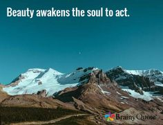 Beauty awakens the soul to act. -Dante