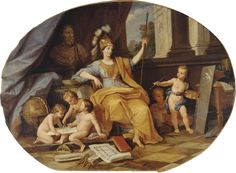 Minerva and the Arts (Louis de Boullogne the Younger - )