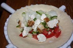 Görög tésztabatyu - Szem-Szájnak Feta, Tacos, Dairy, Cheese, Ethnic Recipes