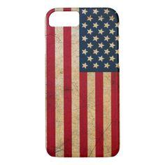Vintage Faded Old US American Flag Antique Grunge iPhone 7 Case