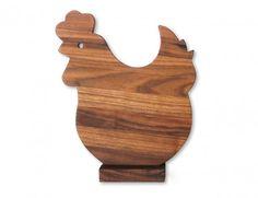 tagliere legno gallina