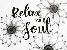 Relax your soul - Adult coloring page