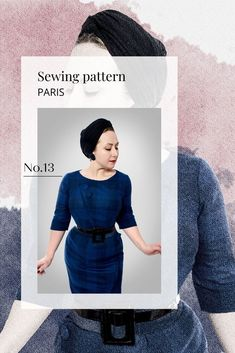 Are you tired of winter dresses in knit that does nothing good for your body? Try make this vintage inspired sewing pattern for an asymmetrical dress. This dress wil compliment every body and show your curves. Perfect winter dress for petite women and plus size women because it goes from size EU 34 to 48 Vintage Dresses, Vintage Outfits, Vintage Fashion, Dress For Petite Women, Plus Size Sewing, Fashion Today, Petite Size, Asymmetrical Dress, Winter Dresses