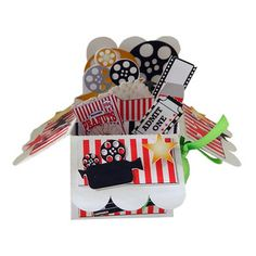 Silhouette Design Store: Movie-themed Pop Up Card In A Box Pink Movies, Movies Box, Halloween Unicorn, Wholesale Boutique Clothing, 3d Craft, Movie Themes, Silhouette Design, Box Design, Print And Cut