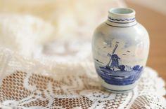Vintage Delft Blue Holland Windmill by LolaandRettsdelight on Etsy, $12.00
