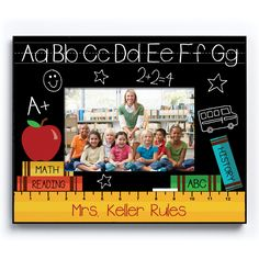 Give a special teacher a personalized frame they will treasure for years.