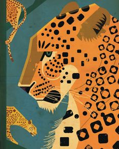 The Leopard Poster is a new poster artwork by the Hamburg illustrator Dieter Braun. On many journeys Dieter Braun studies in detail animals of all Art And Illustration, Illustration Design Graphique, Posca Art, Photo Animaliere, Motifs Animal, Guache, Arte Pop, Art Mural, Oeuvre D'art