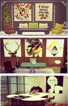 Sims4Luxury: Big paintings sets • Sims 4 Downloads