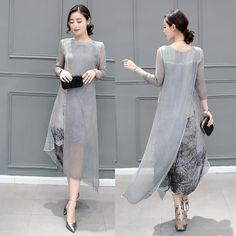 fashion 2018 Free Shipping New Spring Summer Women Work Wear Cotton Linen Dresses Folk Art Ink Print Casual Slim Dress Retro