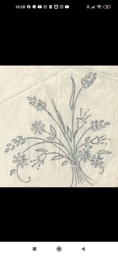 Cute Embroidery Patterns, Hand Embroidery Designs, Cross Stitch Rose, Stencils, Tapestry, Drawings, Floral, Crafts, Embroidery Hoop Crafts