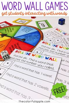 Word wall activities and games to use in the elementary school classroom. Fun, quick games to get students to learn their sight words and high frequency words.