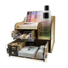 Горячая распродажа акриловая дерева для хранения макияж и косметика и других мелких всякой всячины акриловая дерева коробка с ящикамикупить в магазине WEDACнаAliExpress
