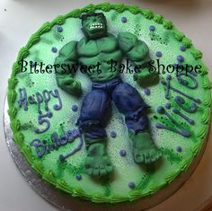 """""""Hulk"""" Birthday Cake Bittersweet Bake Shoppe Tyngsboro, Massachusetts"""