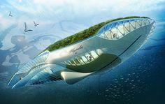 Futuristic, Physalia Floating Garden By Vincent Callebaut