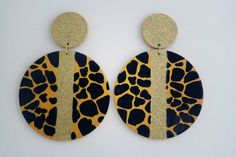 Posh Hand Painted Earring by DiemBJewelry on Etsy, $20.00