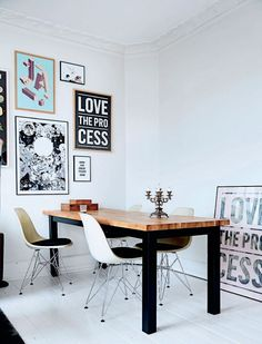 Kathrine Højriis interior - Graphic design  I Love My Type society - Photo Birgitta Wolfgang Drejer