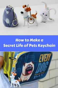 I teamed up with @simple_solution to make this DIY The Secret Life of Pets Keychain! Perfect for your kids to hang from their backpacks! #PetCrafts
