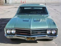 Buick Skylark Gran Sport '66 Mine was Hamm's beer can blue. 401ci, 445ftlb torque, 325hp, 4 speed. To tell if it's an original reach under the side, if it is you'll feel the big side box frame rails of a convertible, even though it's a hardtop.