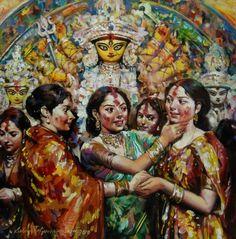 #SindoorKhela #SindoorUtsav #DurgaPuja #DurgaPuja2013 #painting