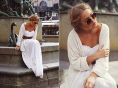 celebinspire:  Angelica Blick  love the white dress