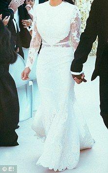 Kim Kardashian and Kanye West's wedding photos