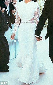 Kim Kardashian and and Kanye West's lavish Italian wedding pictures are revealed | Mail Online