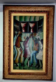 M. PIERRE- Óleo sobre tela belíssima obra do Haiti. Med: 72 cm 40 cm.