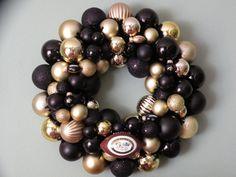 New Orleans Saints Ornament Wreath!   Go Saints!!!!!