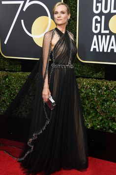 All the Glamorous 2018 Golden Globes Red Carpet Arrivals - Diane Kruger from InStyle.com
