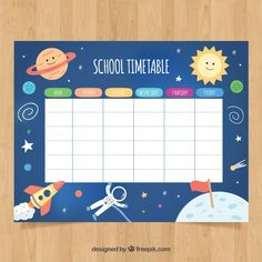 School timetable to organize Free Vector Capital Letters Worksheet, Hex Color Palette, Timetable Template, Printable Banner Letters, School Timetable, School Labels, Photo Collage Template, School Clipart, Planner Pages