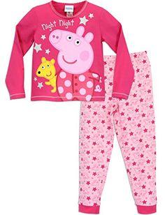 Peppa Pig Girls Peppa Pig Pyjamas Night Night Peppa Ages 18 Months to 7 Years Peppa Pig Cartoon, Night Pajama, Pajama Set, Peppa Pig Merchandise, Peppa Pig Videos, Peppa Pig Colouring, Pig Girl, Hot Pink Tops, Girls Night