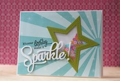 PTI~Sparkle & Shine Birthday card - Laura Bassen