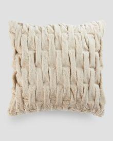 "Interwoven Faux Fur Decorative Pillow 20"" x 20"""