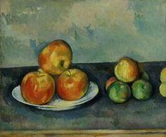 Driehoekscompositie: Cezanne - appels