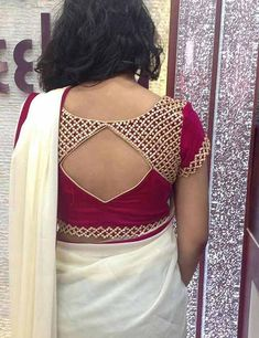 30 Latest Patch Work Blouse Neck Designs I get confused every time I have an event to attend & need to have a blouse stitched. So, I decided to write about the latest patch work blouse designs to make the task easier. Patch Work Blouse Designs, Simple Blouse Designs, Blouse Back Neck Designs, Stylish Blouse Design, Designer Blouse Patterns, Fancy Blouse Designs, Saree Blouse Patterns, Choli Designs, Dress Designs