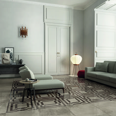 ABK Italy-product Unika floor tile- great with the wood paneling Floor Design, House Design, Wood Paneling, Decoration, Dreaming Of You, Tile Floor, Flooring, Living Room, Furniture