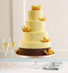 White Chocolate Curls Wedding Cake-Marks & Spencer