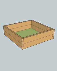 Praktický, malý vyvýšený záhon s rozmermi 1 x 1 x 0,24 m.