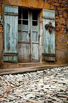 Rustic door in Dordogne, France