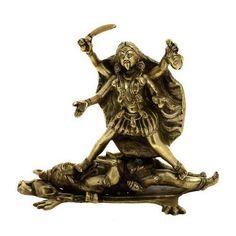 Statue of Goddess Kali Hindu Art Religious Decor Brass 9in, New #ShalinCraft offered by starcosupply on eBay.com