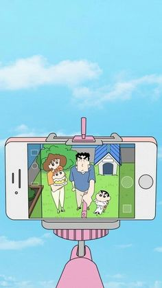 Selfie wit my fam😌 Sinchan Wallpaper, Funny Phone Wallpaper, Cute Anime Wallpaper, Cute Cartoon Wallpapers, Wallpaper Quotes, Sinchan Cartoon, Cartoon Heart, Cartoon Girl Drawing, Crayon Shin Chan