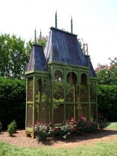 Aviary--- this would be a fun shape to repurpose into a chicken coop, very fantasy castle cottage style