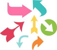 Silhouette Online Store - View Design #22035: arrow pointer set