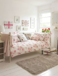 Choose floral bedlinen and pretty bedroom accessories