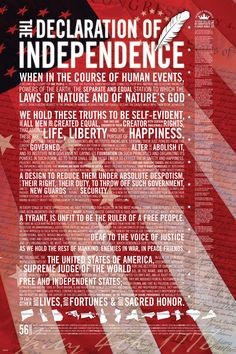 The United States Declaration of Independence - Hurray 1776!