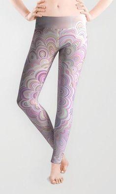 Light Pink Flower Mandala Leggings by David Zydd Light Pink Flowers, Boho Fashion, Womens Fashion, Flower Mandala, Mandala Coloring, Love To Shop, Printed Leggings, Product Design, Boho Chic