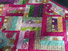 Pretty in Pink Reversible Quilted Table Runner